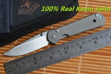 KEVIN JOHN small sebenza 21 folding knife S35VN blade TC4 Titanium handle camping hunting outdoor survive travel knife EDC tools
