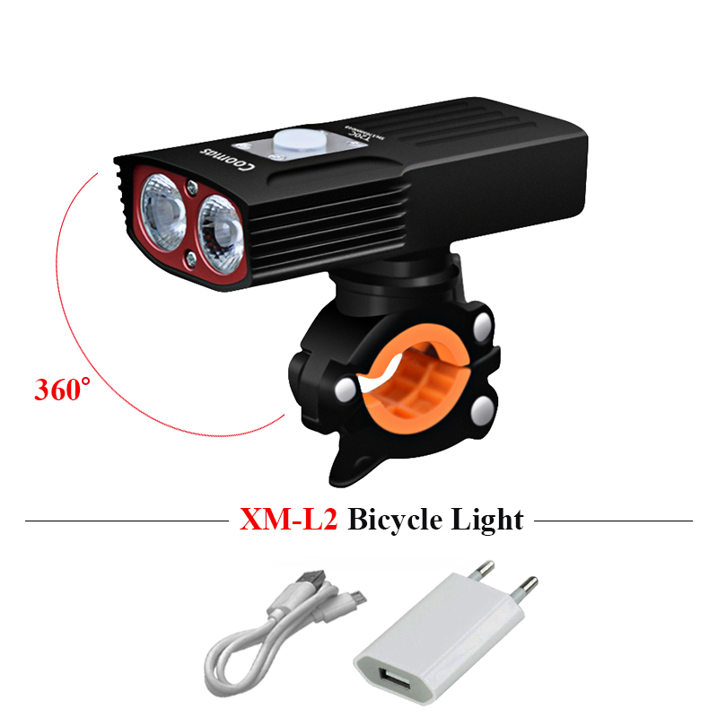 XM L2 LED Headlamp Cycling Light Headlight USB charge Cycling torch Bicycle Head Lamp Waterproof 5200mAh LED fishing hoofdlamp cree xml l2 led zoomable headlamp red green blue fishing 4 mode head lamp light torch hunting headlight 18650 battey usb charger