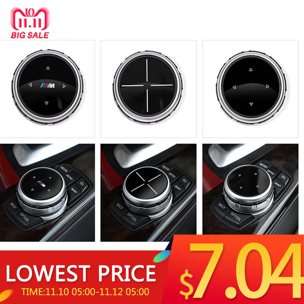 Multimedia Idrive Modification Elegant Classic Button Cover Knob Cover For BMW x1 / x3 / x5 / x6 / 1 Series 2/7/5/3