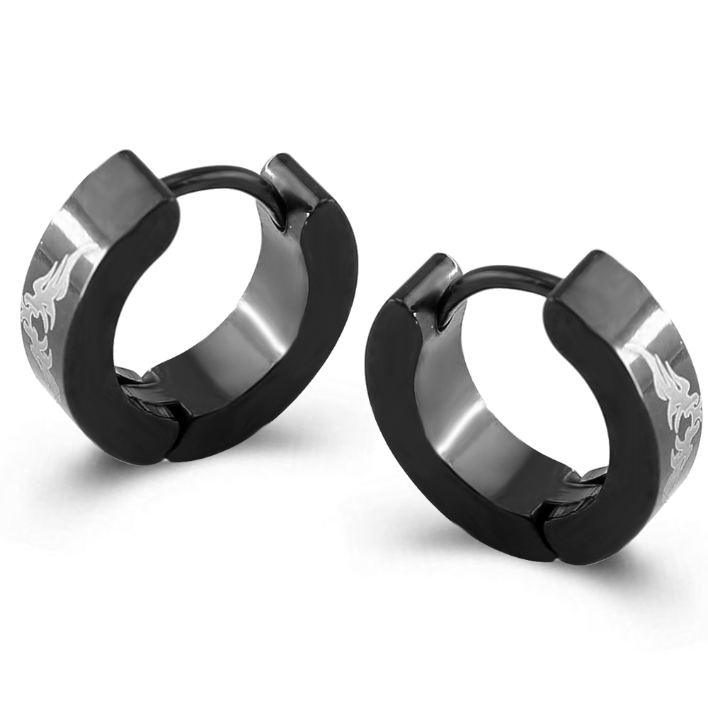 New Stylish Gauge 4*9mm Huggie Hoops Earring Punk Fashion Surgical Steel Hoop  Earrings For
