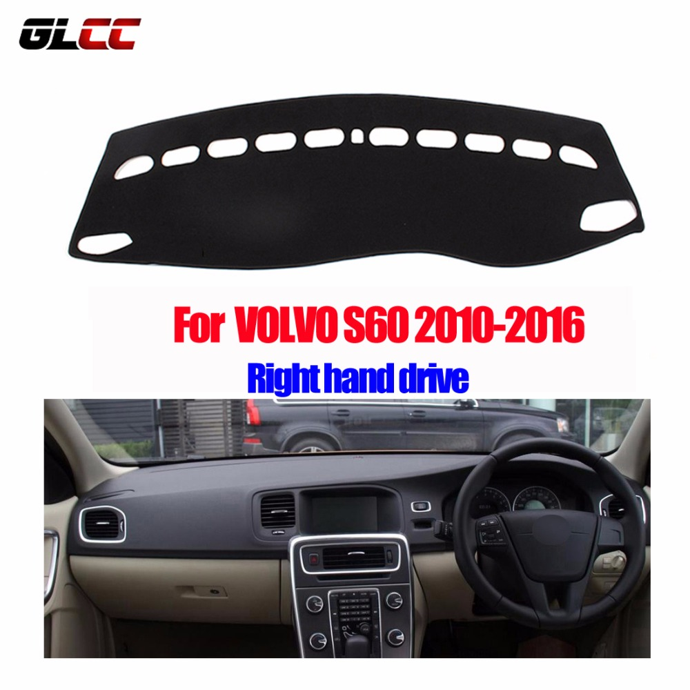 Car dashboard covers mat for volvo s60 2010 2016 years right hand drive dashmat pad dash cover auto dashboard accessories