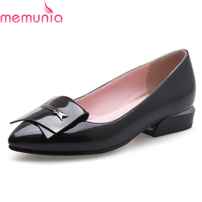 MEMUNIA 2018 new hot sale low heel pointed toe casual shoes high quality leisure buckle women shoes big size 34-43 memunia new arrive hot sale genuine