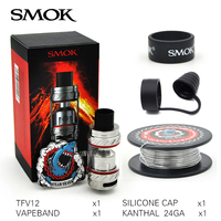 First Batch Smok TFV12 6ml Sub Ohm Tank Large Airflow Atomizer Top Filling Cloud Beast Support