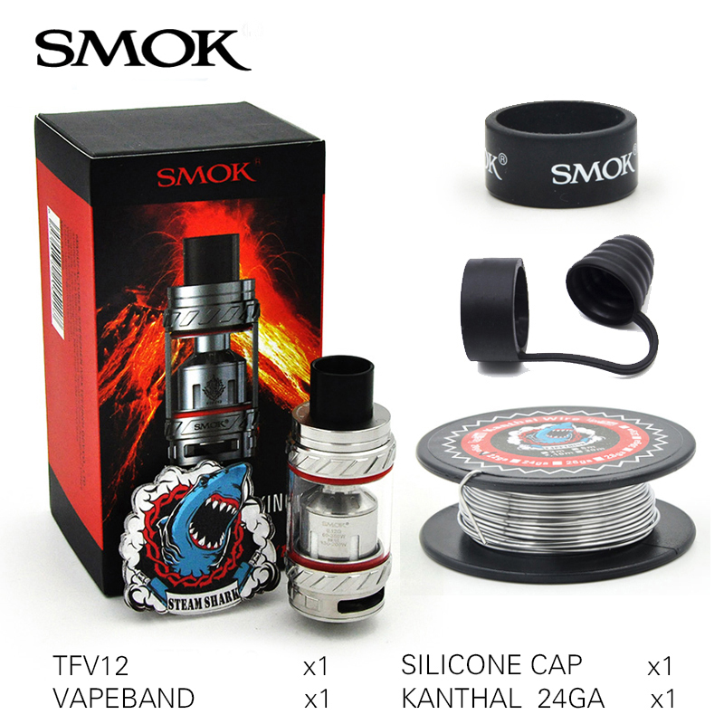 first batch Smok TFV12 6ml Sub Ohm Tank Large Airflow Atomizer Top filling Cloud Beast Support 350w E Cigarette Box Mod Vape