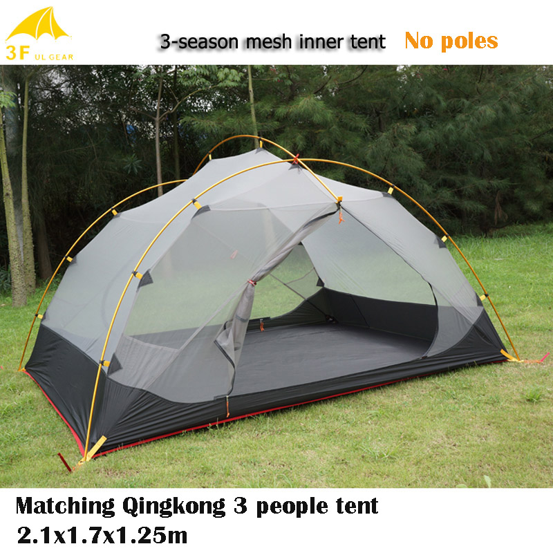 3F UL Gear Ultra light 3 People Versatile Mesh Tent Qingkong Tent Matching For Hot Weather