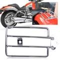 Banco Traseiro Suporte De Bagagem Rack de Prateleira de Carga da motocicleta Prata Fit para Harley Davidson Sportster 1200 Sportster 883