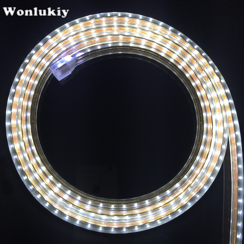 Led Waterproof Strip Lights White Flexible Rope Lighting: 3014 Led Strip AC220V 120leds/M IP67 Waterproof Outdoor