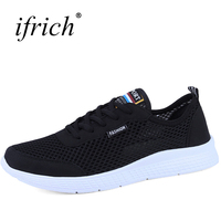 Ifrich New Unisex Running Sneakers Sale Lace Up Low Top Sneakers Couples Mesh Breathable Men And