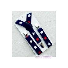 Детские темно-синие штаны для мальчиков и девочек ясельного возраста с изображением звезд, y-образные металлические зажимы подтяжек, регулируемые эластичные подтяжки, YHH0047