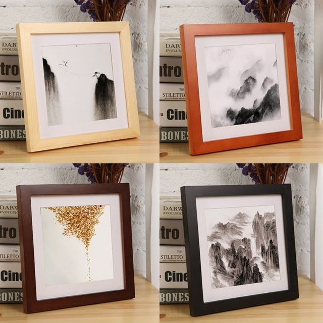 Vintage Photo Frame Home Decor Accessories 5 Colors Wooden Wedding