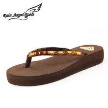 2015 Diamond Summer Lady's Sandal Women Beach Home Flip Flops Slippers Flat Beach Sandals Shoes Thong Sandals Plataforma