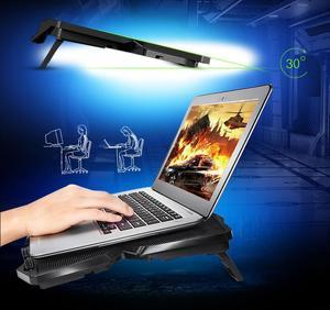 Image 5 - Cooling Pad für 15,6 17 Zoll Laptops mit Vier 120mm Lüfter auf 1200 RPM, schwarz Ergonomische Stand Verhindern Laptop Überhitzung