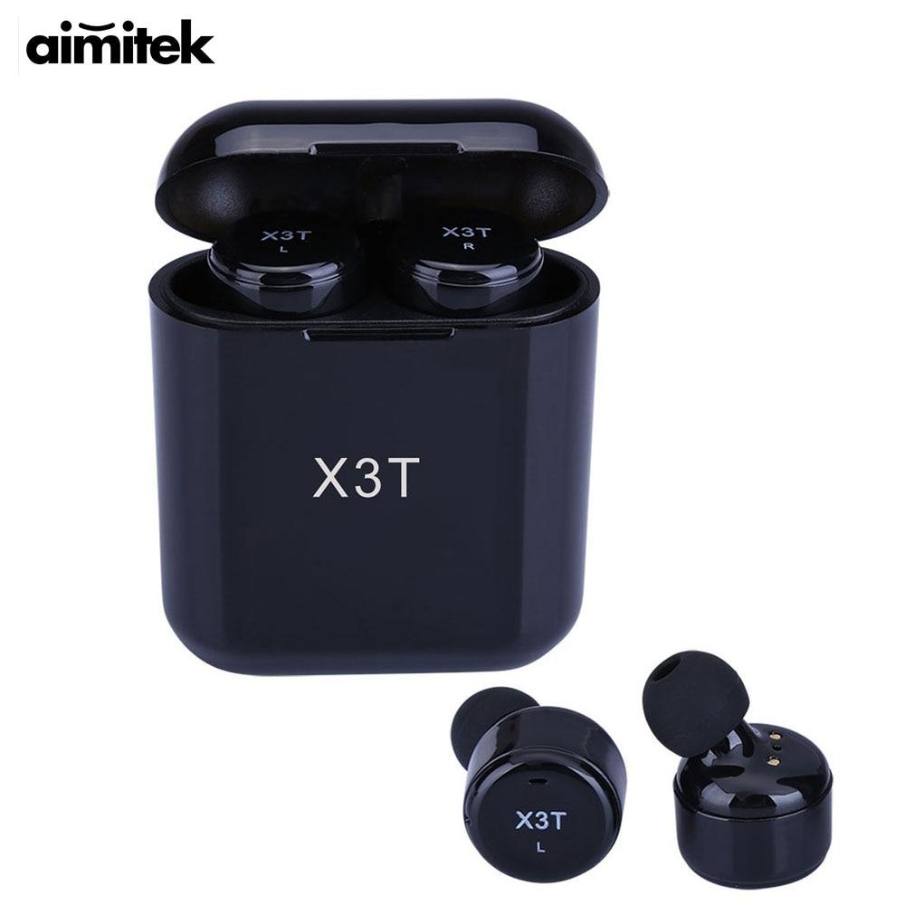 Aimitek X3T TWS Bluetooth Earphone Mini True font b Wireless b font Stereo Headset In ear