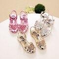 children's 2016 summer new Korean girls princess sandals Baotou hollow Rome shoes baby girls flat sandals
