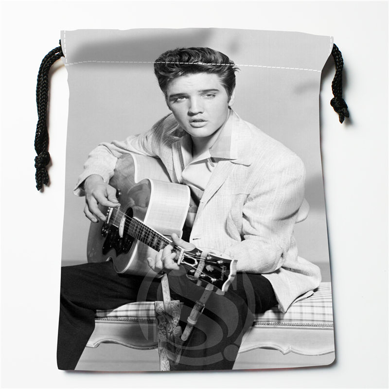 J&w2 New Elvis Presley  Custom Printed  Receive Bag Compression Type Drawstring Bags Size 18X22cm W725&JYw2