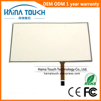 Win10 Compatible 16:9 12.1 inch computer monitor touch screen panel, 4 wire resistive USB touch panel digitizer