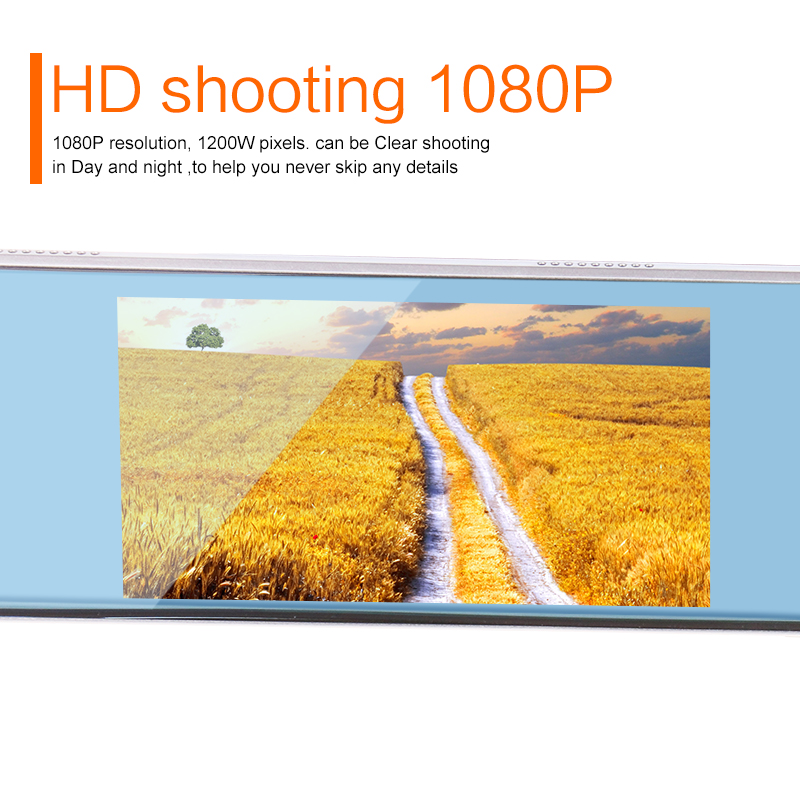 2017 Latest 5.0 Car Camera Review Mirror Dvr and LDWS ADAS Detector Digital Video Recorder Dual Lens HD1080P Car Safe Driving