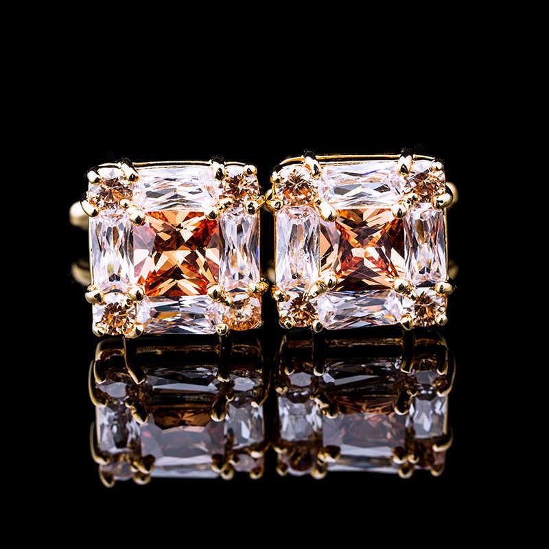 KFLK תכשיטי לגברים של מותג של איכות גבוהה כיכר זהב חפתים חולצות חפתים אופנה מתנה לחתונה כפתור אורחים