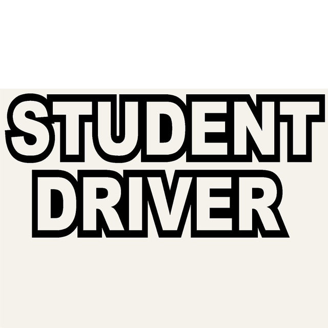 Student Driver Personalized Lettering Art Study and Work