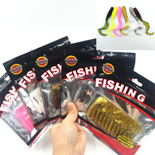 New 58mm/1.82g Vivid Soft Lures 12pcs/lot Artificial Loach Fishing Bait Swimbait Fishing Worm Fishing Tackle Fishing Lures 049