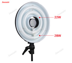 Falconeyes Ring light RFL-2 LED two tubes Photographic lamps studio professional circular fill lamp cold light CD50 T03