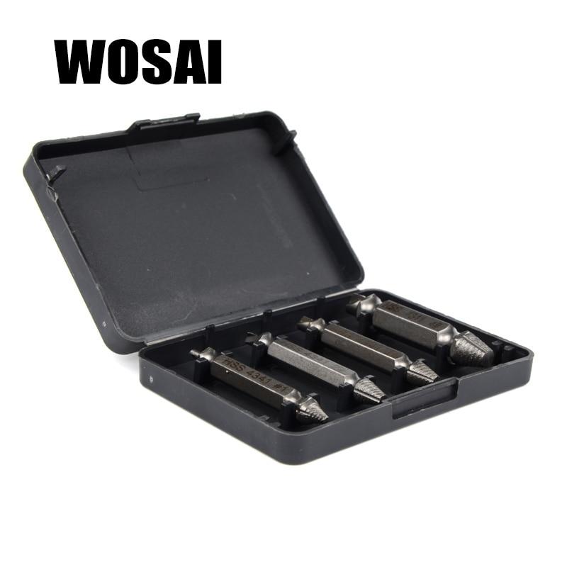 WOSAI HHS Steel 4Pcs Extractor de tornillos Juego de guías de brocas - Accesorios para herramientas eléctricas - foto 2