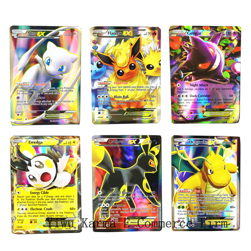 2019 New GX MEGA EX Toys   Pokemones  Card Game Battle Trading Cards For Children Gifts(China)