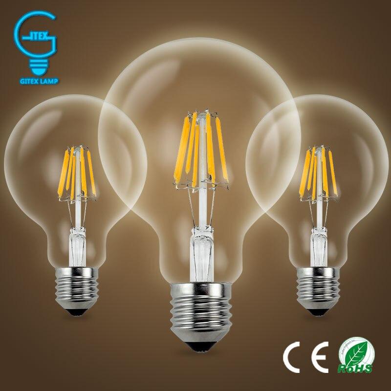 Декоративная лампа накаливания 220 в E27, старинный винтажный Ретро светильник Эдисона 3 Вт 4 Вт 6 Вт 7 Вт 8 Вт, светодиодный светильник накаливан...