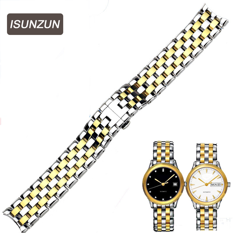 ISUNZUN Stainless Steel Watchband For Longines/Flagship/Watch Strap/ L4.774 Metal Bracelets 18mm Correas Para De Reloj Hombres longines часы купить в москве