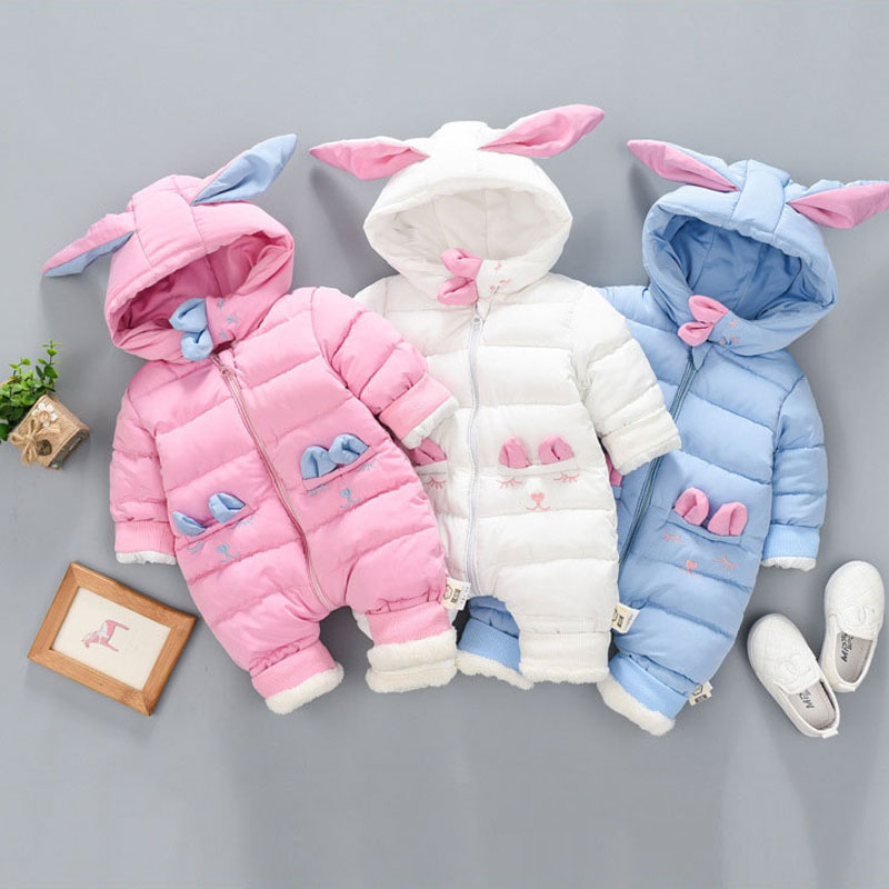 Winter newborn infant baby girls boys clothes outfit windproof cotton jumpsuit coat for boy girl baby clothing Coveralls rompers трусы для девочки playtoday цвет розовый белый 2 шт 176003 размер 110 116