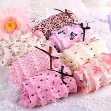 2016 Hot Brand New Lovely Girl Sexy Dot Calcinha Female Underwear Women Lace Ruffles Women s