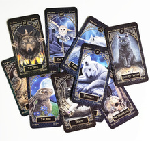 цена 2019 New Tarot Deck Familiars Tarot Legends Tarot Family Party board game  78 cards/set funny card game онлайн в 2017 году