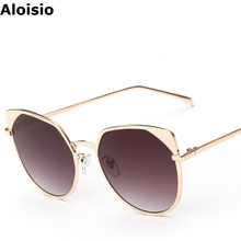 Aloisio Cat Eye Women Sunglasses Lady Glasses Oculos Alloy Frame Metal Luxury Brand Designer New Fashion Feminino Lunette AL333