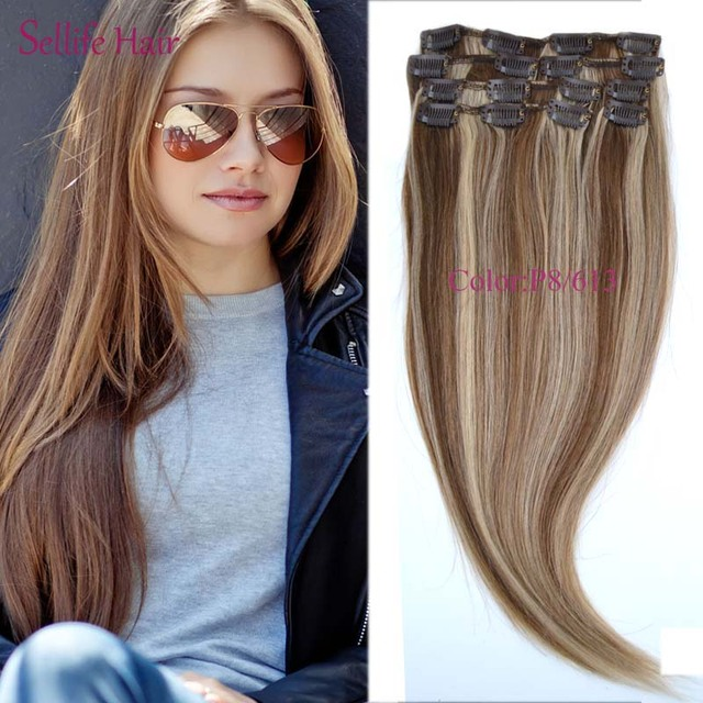 Best Selling Female Beauty Hair 151820 70gram 7pcs Clip On