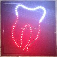 CHENXI Лидер продаж изготовленный на заказ 19x19 дюймов для помещения ультра яркий светящийся настенный знак стоматолог окна магазина неоновая вывеска «open» из(светодиод