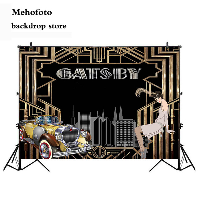 Neoback Great Gatsby Backdrop For Photography Birthday Theme Party Decoration 80s 90s Parties Style Photo Background