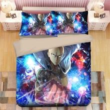 ONE PUNCH MAN Bedding Set Cartoon anime Duvet Covers 3D bedding queen Pillowcases kids Comforter Sets bed linen