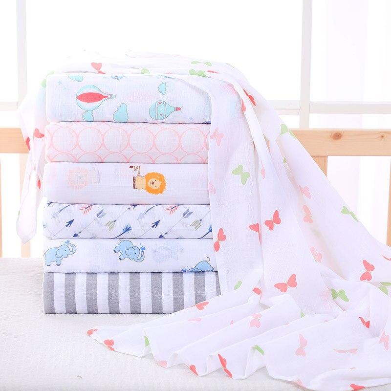 Random Shipment Muslin Cotton Baby Quilt Baby Swaddles Soft Newborn Blankets Bath Gauze Infant Wrap Sleepsack Stroller Cover