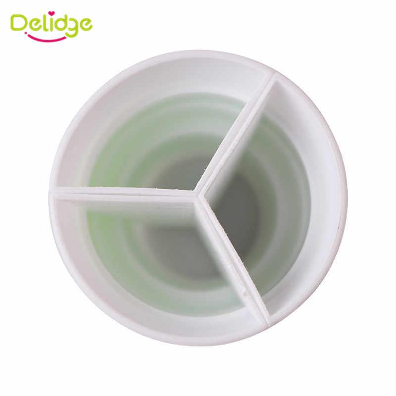 Delidge 1 قطعة 3 ثقوب تزيين الكيك محول 3-لون أنابيب توزيع السكر فوهة تحويل كريم مقرنة أدوات تزيين الكعكة الفوندان