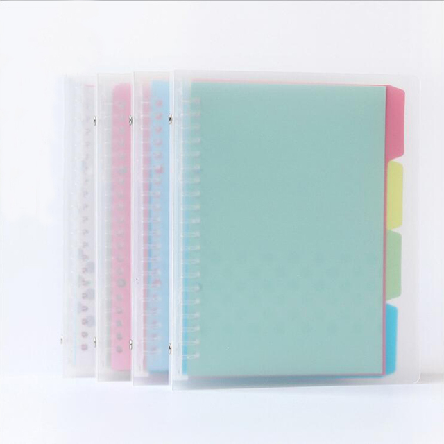 PP Transparent Cover Spiral Binder Notebook A5 20 Holes Replaced - notebook binder