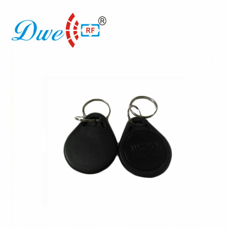 DWE CC RF Access Control Card Black RFID Reader Tag EM4100 Keyfobs For Access Control System K016