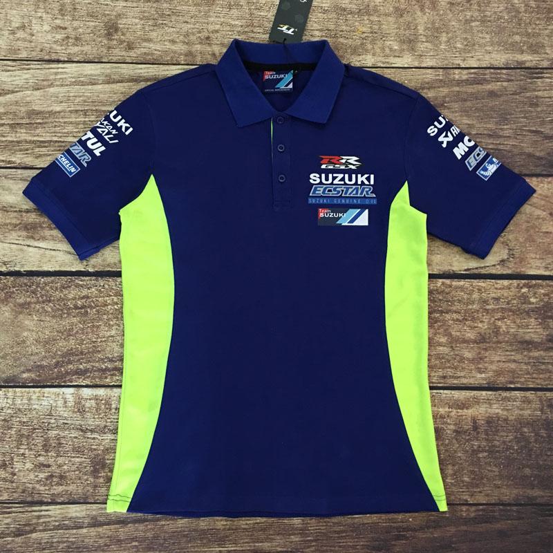 Suzuki Mens Team Embroidered  Basic Casual Polo Shirt  Blue