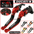 CNC Adjustable Foldable Extendable Motorbike Brakes Clutch Levers For DUCATI 1098/S/Tricolor  1199 PANIGALE/S/Tricolor S4RS