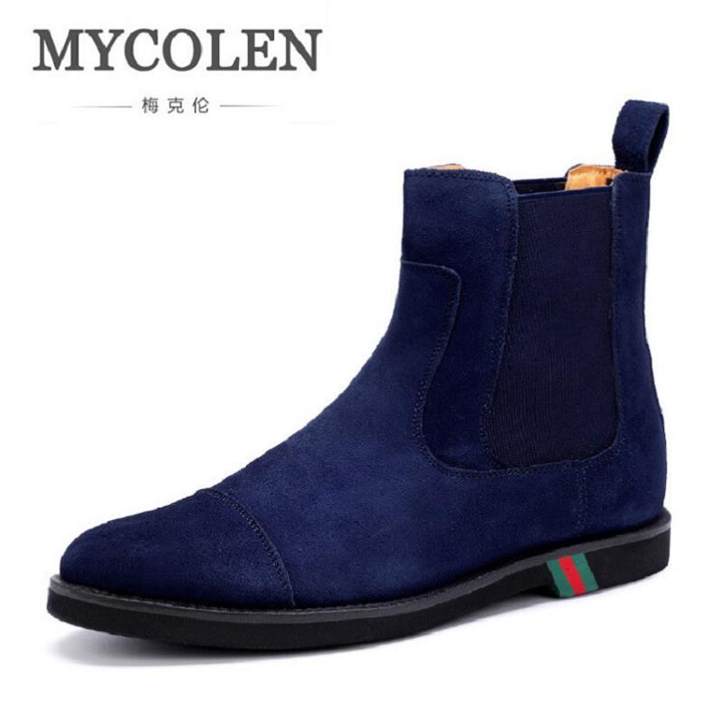 MYCOLEN Brand Men Boots New Autumn Winter Chelsea Boots Male Vintage Fashion Ankle Shoes Men Motorcycle Boots Sapatos Masculino цены онлайн