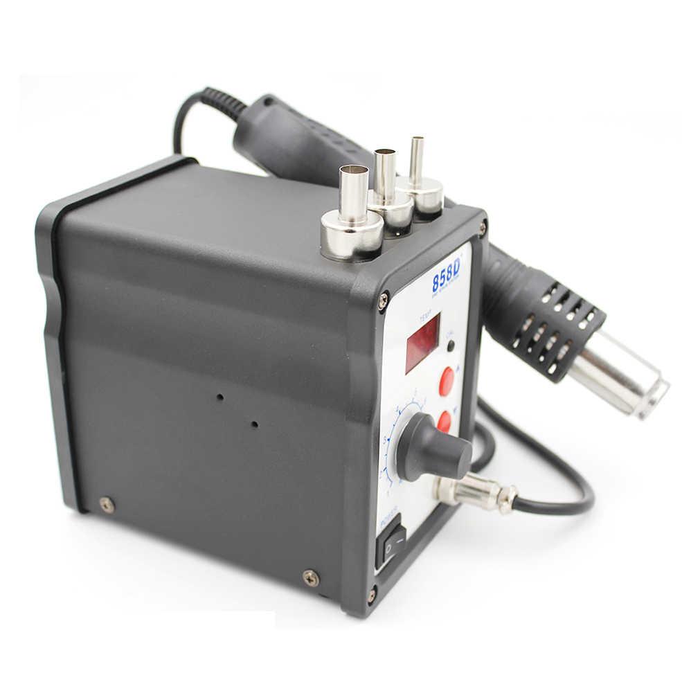 858D + пайка горячим воздухом станция 110 В/220 В 700 Вт светодиодный цифровой паяльный тепловой пистолет паяльная станция ESD SMD Сварка SMT ремонтная машина