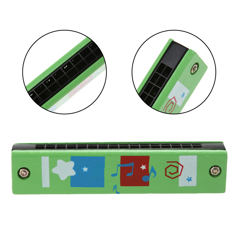 Wood-Plastic-Harmonica-Fun-Double-Row-16-Holes-Musical-Toy-Harmonica-Kids-Early-Educational-Music-Learning-Toy-Random-Color-2
