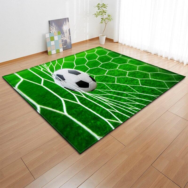 3D Football Basketball Carpet Rugs Living Room Bedroom Soft Thicken Round Carpets For Kids Room Anti-slip Carpet C1227-1