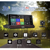 G dog New 3G Video recorder DVR Rear view Android 5.0 GPS Bluetooth FM WIFI Dual Lens rearview mirror Camcorder Dash cam dvrs