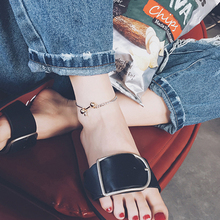 personality female summer Anklet foot ring on the Korean minimalist retro trendsetter foot chain ornament accessories