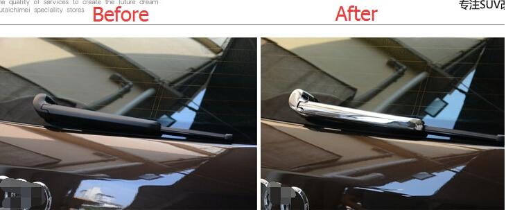 Yimaautotrims Auto Acessório Traseiro Janela Windscreen Windshield Chuva Wiper Capa Guarnição 2 Q3 pçs/set Apto Para Audi 2012 2013